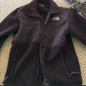 Girls brown north face like new